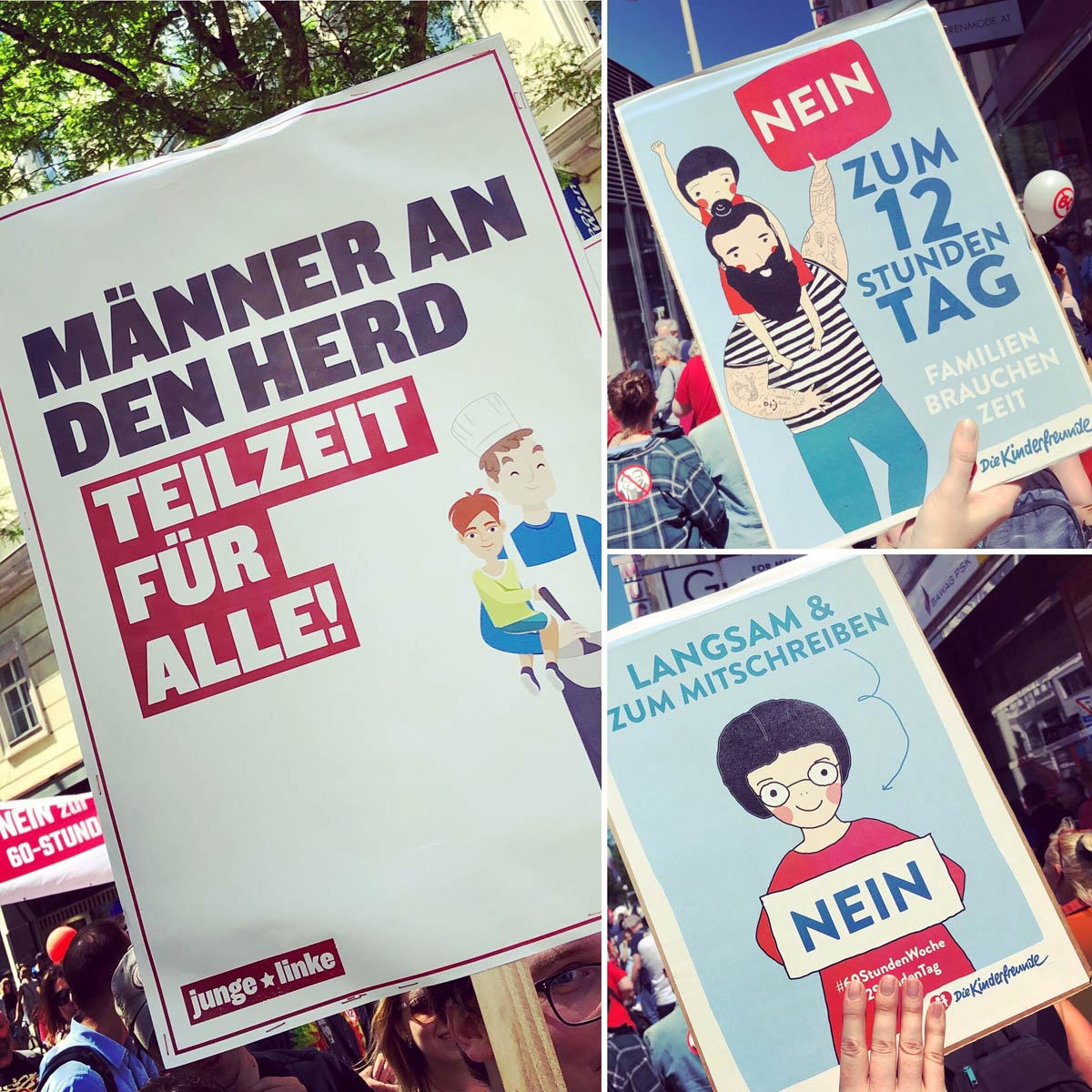Impressionen von der Demonstration