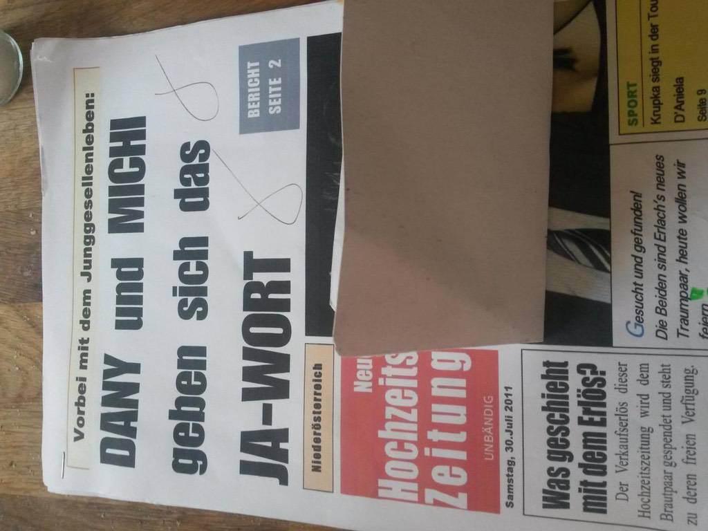 hochzeitszeitung kochbuch